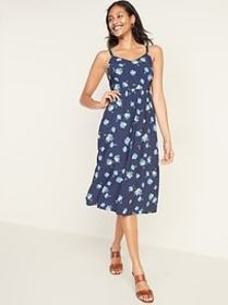 Printed Fit & Flare Cami Midi for Women