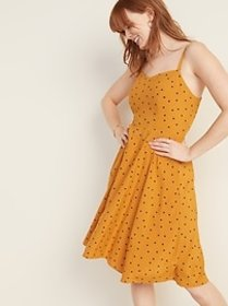 Printed Fit & Flare Cami Dress for Women