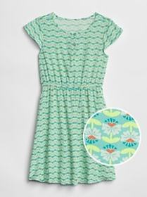 Kids Print Fit and Flare Dress