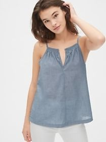Smocked Cami in Chambray