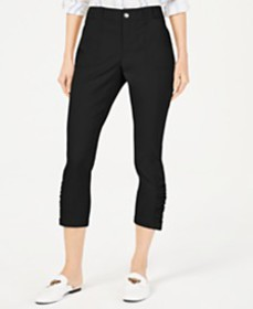 I.N.C. Curvy Ruched-Hem Cropped Pants, Created for