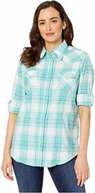 Wrangler Long Sleeve Snap Plaid Shirt
