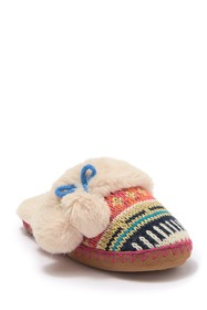 Chinese Laundry Knit Pom-pom Slipper