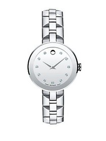 Movado Diamond & Stainless Steel Bracelet Watch SI