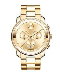 Movado BOLD Goldtone IP Stainless Steel Chronograp