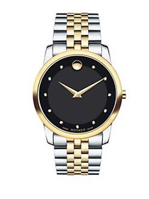 Movado Museum Classic Watch TWO TONE