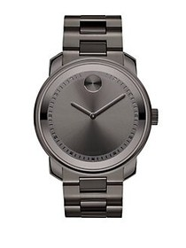 Movado BOLD Stainless Steel Bracelet Watch PEWTER
