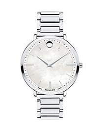 Movado Ultra Slim Stainless Steel Bracelet Watch S