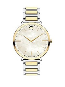 Movado Ultra Slim Yellow Goldtone Stainless Steel