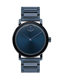 Movado BOLD Evolution Blue Ion-Plated Stainless St