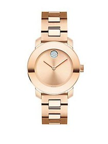Movado BOLD Rose Goldplated Stainless Steel Bracel
