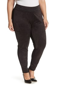Seven7 Faux Suede Ultra High Waisted Ponte Legging