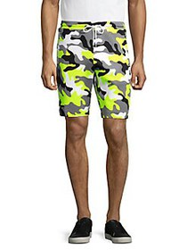 Michael Kors Camouflage-Print Shorts NEON YELLOW