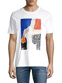 BOSS Collage Graphic Tee WHITE