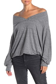 Free People Sequoia Off-the-Shoulder Neck Top
