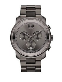 Movado BOLD Gunmetal Grey IP Stainless Steel Chron