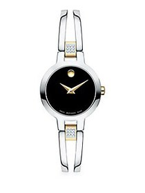 Movado Amorosa Diamond and Stainless Steel Bracele
