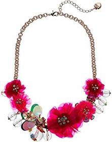 Betsey Johnson Flower Statement Frontal Necklace