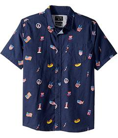 Quiksilver Kids Merica Patch Short Sleeve (Big Kid