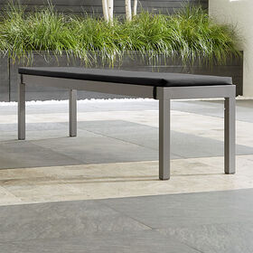 Crate Barrel Alfresco II Natural Dining Bench with