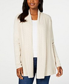 Karen Scott Open-Front Cardigan, Created for Macy'