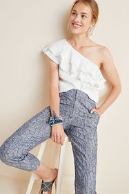 Anthropologie Marquis One-Shoulder Top