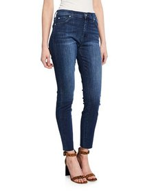 7 For All Mankind Gwenevere High-Waist Cutoff Ankl