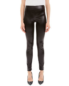 Theory Skinny Chintz Faux-Leather Stretch Leggings