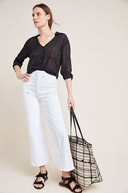 Anthropologie 3x1 Nicolette Ultra High-Rise Croppe