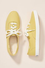 Anthropologie Keds Champion Chartreuse Sneakers