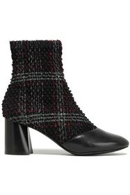 3.1 PHILLIP LIM Drum checked bouclé-tweed and leat