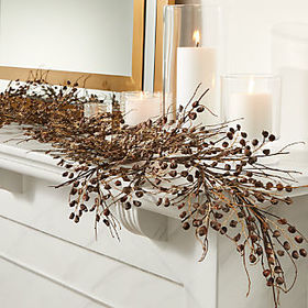 Crate Barrel Pine Chip Brown Garland