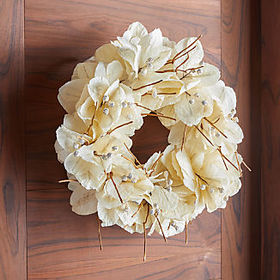Crate Barrel Mussaenda Leaf Wreath