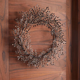 Crate Barrel Pine Chip Brown Wreath