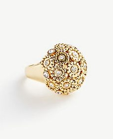 Pave Fireball Ring