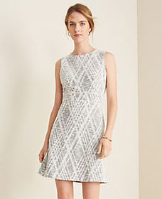 Argyle Textured Flare Dress