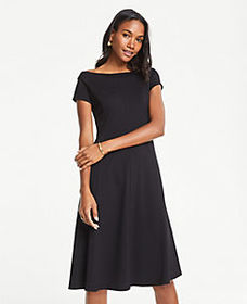 Off The Shoulder Ponte Flare Dress