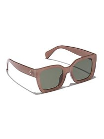 Brown Square Sunglasses - New York & Company