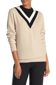 Helmut Lang Wool Blend Colorblock Sweater
