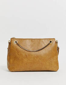Chateau Cross Body Bag with Chain in Honey