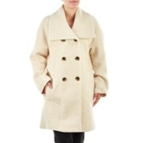 LONDON FOG Double Breasted Wool Blend Short Coat