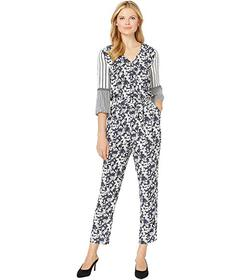Vince Camuto 3\u002F4 Sleeve Floral Lace Mix Print