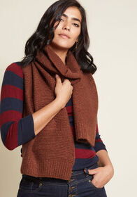 Totally Toasty Scarf in Brown Rust