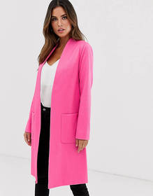 Helene Berman Edge to Edge duster coat in neon jac