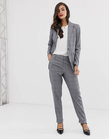 Y.A.S Thesis check two-piece tailored pants
