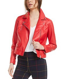 Bar III Faux-Leather Moto Jacket, Created for Macy
