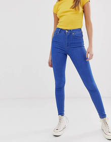 Pull&Bear high rise skinny jeans in blue