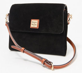 """As Is"" Dooney & Bourke Suede Crossbody - Hunter -"