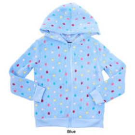 Girls (7-16) Derek Heart Multi Dot Woobie Zip Fron