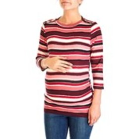 OLIVIA BLU MATERNITY Three Quarter Sleeve Stripe R